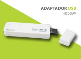 ADAPTADOR USB WIRELESS M300UW PIXEL 300Mbps