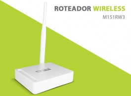 ROTEADOR WIRELESS 150Mbps M151RW3 PIXEL